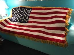 Usa Flag For Sale Crocheted American Flag Blanket Throw Wall Decor Made Fresh