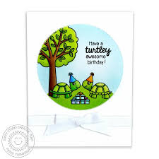 sunny studio turtley awesome 2x3 photo polymer clear stamps