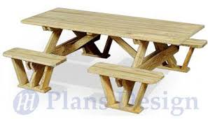 classic round picnic table set woodworking plans pattern odf13