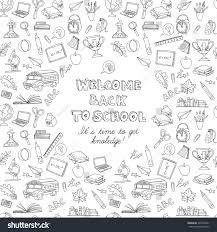 illustration back greeting card kids stock illustration