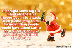 if tonight some big merry message