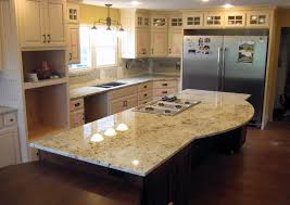 interior colonial white granite with kitchen island and recessed
