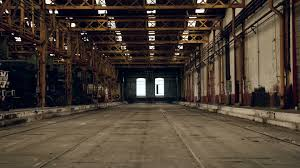 industrial interior with black cat walking trough footage 25361813