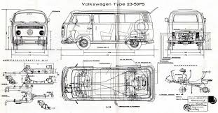 volkswagen bus drawing vw t2 bus type 23 1974 smcars net car blueprints forum