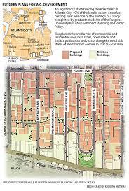 Rutgers Map Rutgers Plan Would Transform A C U0027s U0027snake Alley U0027 Into U0027downtown
