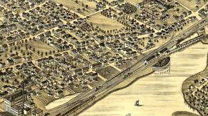Birds Eye View Map Portsmouth New Hampshire 1877 Panoramic Bird U0027s Eye View Map 6543