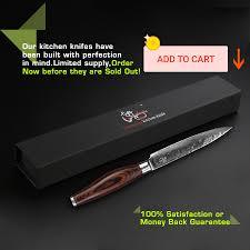 Luxury Kitchen Knives Aliexpress Buy Haoye 5 Damascus Utility Knife Japanese Vg10