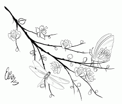 creative chinese cherry blossom coloring pages coloring panda