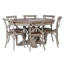 kitchen table round 6 chairs round dining table and chairs gloucester grey distressed shabby chic