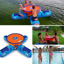 floating table for pool amazon com inflatable pool party table floating picnic table
