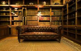 interior elegant home library interior ideas brown sofa read