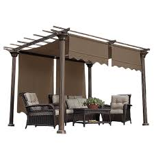 Sunbrella Replacement Canopy by Garden Garden Winds Pergola With Regard To Amazing Canadian Tire