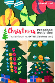 how we use our diy felt christmas tree for fun christmas preschool