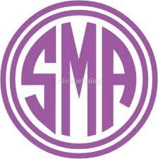 monogram stickers sma monogram stickers by sloanehaley redbubble