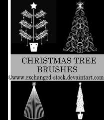 beautiful collection of photoshop christmas brushes and vectors