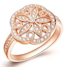 big rings designs images Best top sale exquisite charming flower design rose gold plated jpg