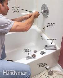 How To Change A Faucet In The Bathroom How To Install A Bathtub Install An Acrylic Tub And Tub Surround