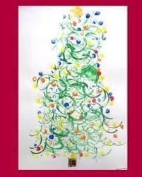 footprint christmas tree craft christmas pinterest