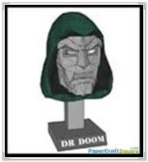 Dr Doom Mask Doom Papercraft Mask