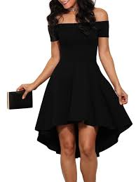 losrly womens off the shoulder skater high low homecoming party