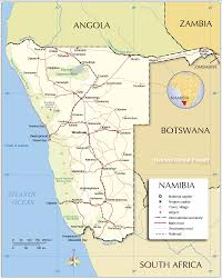 Map Of Southern Africa by Political Map Of Namibia 1200 Px With Nations Online Project