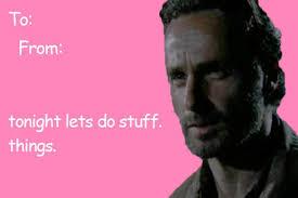 Walking Dead Valentine Meme - love walking dead valentines day cards tumblr in conjunction
