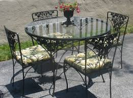 Glass Table Top For Patio Furniture Dining Room Vintage Outdoor Dining Table With Small Glass