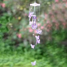 butterfly mobile wind chime bell ornament lucky yard