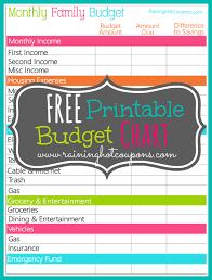 budgeting charts free printable printable maps