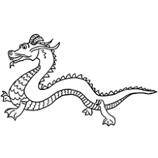 Chinese Dragon Coloring Pages Easy | top 10 free printable chinese dragon coloring pages online
