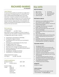 Free Resume Templates For Pages Test Manager Resume Template Free Resume Example And Writing