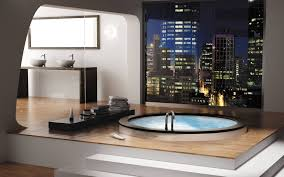 Luxurious Bathrooms With Stunning Design Stunning Modern Bathroom Furniture With Custom Glass Bath Tub