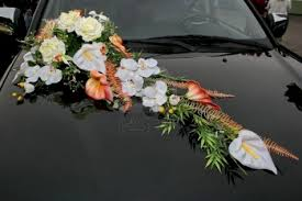 beaytiful flower wedding car decoration