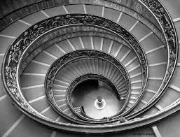 architectural interiors spiral stairs b u0026w europe framed