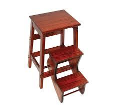 folding step stool oak amish mercantile