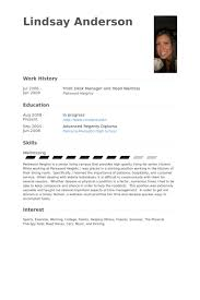 Waitress Resume Example by Front Desk Manager Resume Samples Visualcv Resume Samples Database