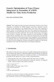 genetic optimization of type 2 fuzzy integrators in ensembles of