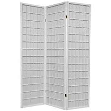 amazon com 3 panel white wood shoji screen room divider