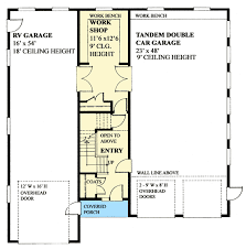 House Plans With Rv Garage by Workshop With Rv Garage 9838sw Architectural Designs House Plans