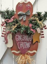 Outdoor Christmas Yard Decorations by Gingerbread Christmas Yard Sign Gingerbread Decor Outdoor