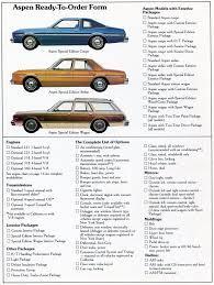 1979 dodge aspen dealer sales brochure mopar forums