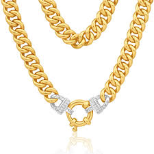 necklace ring clasp images Angelina 9ct gold diamond 45cm chain with bolt ring clasp g10251793 jpg