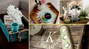diy farmhouse style wooden rustic tray decor ideas home decor