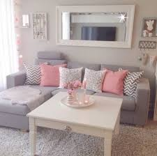 girly home decor home accessory grey pink cute pillow white mirror couch lifestyle