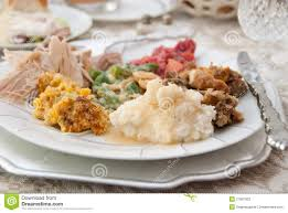 thanksgiving dinner plate stock image image of turkey 27897003