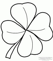 4 leaf clover template image gallery four leaf clover coloring pictures