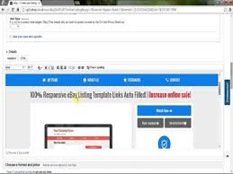 how to create ebay listing template 100 responsive youtube