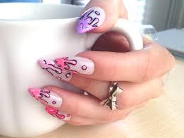 pastel drip stiletto nails set of ten press on nails