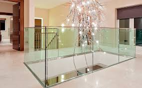Stair Banister Glass Half Turn Staircase Straight Stone Steps Stainless Steel