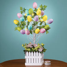 easter egg tree decorations lighted easter egg tree table decoration from collections etc